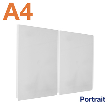 Double A4 portrait easy access poster pockets