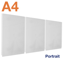 Triple A4 Acrylic Poster Pockets