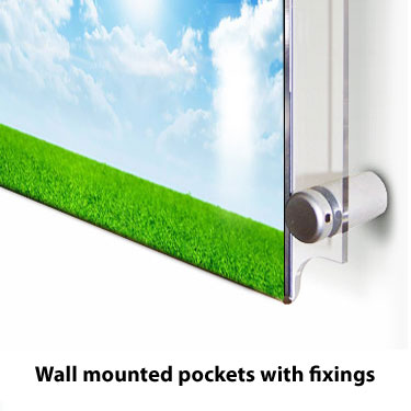 Wall mounted fixings included with the wall mounted pocket option