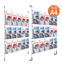15 x 1/3 A4 Cable Display Kit - Leaflet Holders