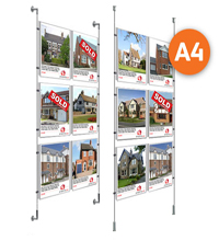 6 x A4 Cable Display Kit - Poster Holders