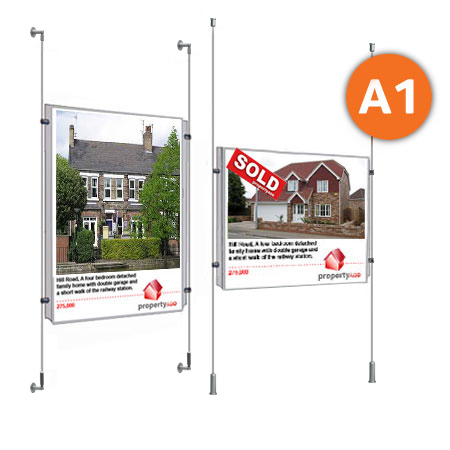 1 x A1 - Choose either wall mountable or floor to ceiling cable display systems