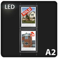 2 x A2 LED Light Pocket