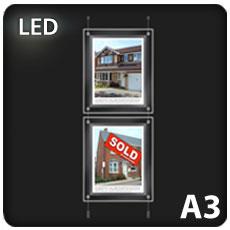 2 x A3 LED Light Pockets