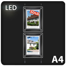 2 x A4 LED Light Pockets