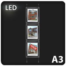 3 x A3 LED Light Pockets