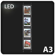 4 x A3 LED Light Pockets