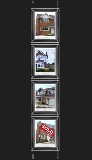 4 x A3 landscape or portrait - 40 watts