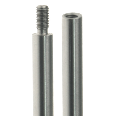 Rod sections screw together to achieve length required