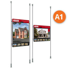 Floor-to-Ceiling Rod Displays - 1 x A1 Posters