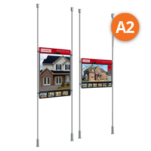 Floor-to-Ceiling Rod Displays - 1 x A2 Posters