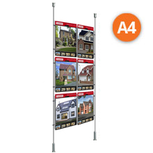 Floor-to-Ceiling Rod Displays - 6 x A4 Posters