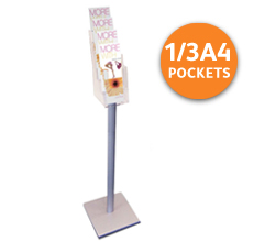 4-tier 1/3 A4 or A6 Free Standing Leaflet Holder