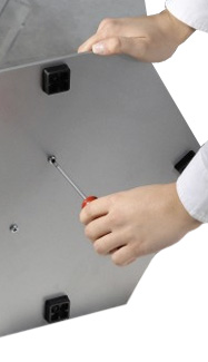 sturdy hexagonal metal base for stability | Leaflet Holders from RAL Display
