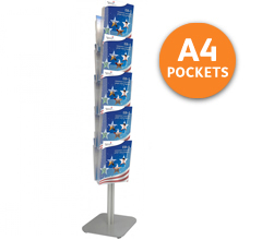 Tower 10 Leaflet Holder with 10 x A4 Pockets