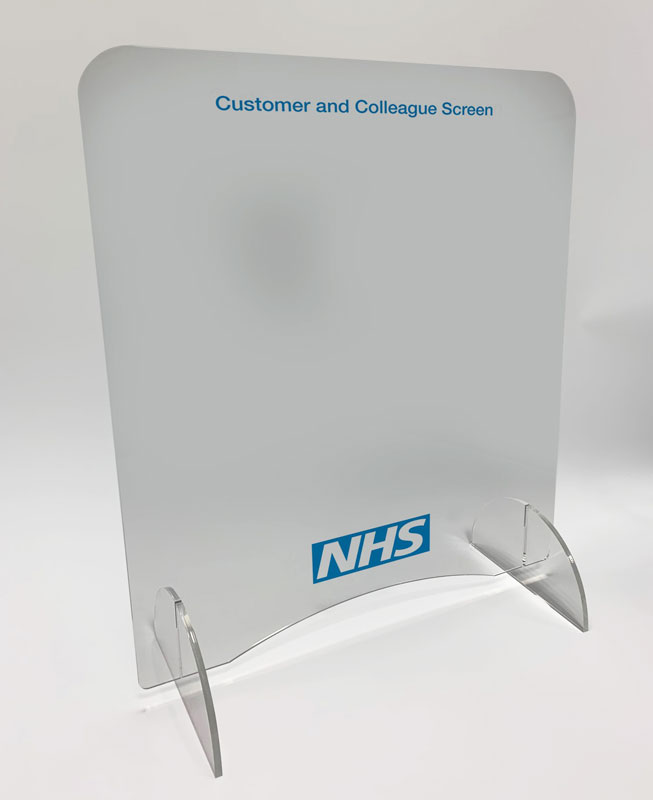 Clear safety screen for banks, doctors surgeries and hospitals