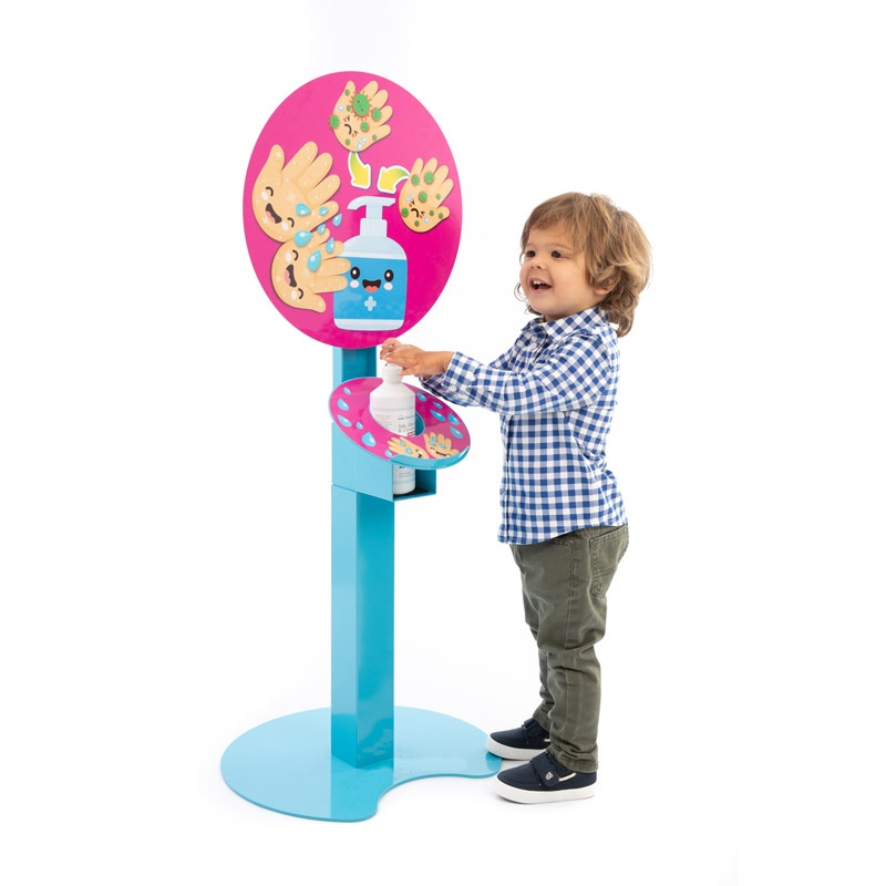 Freestanding sanitising station for children - Waving Hands Design