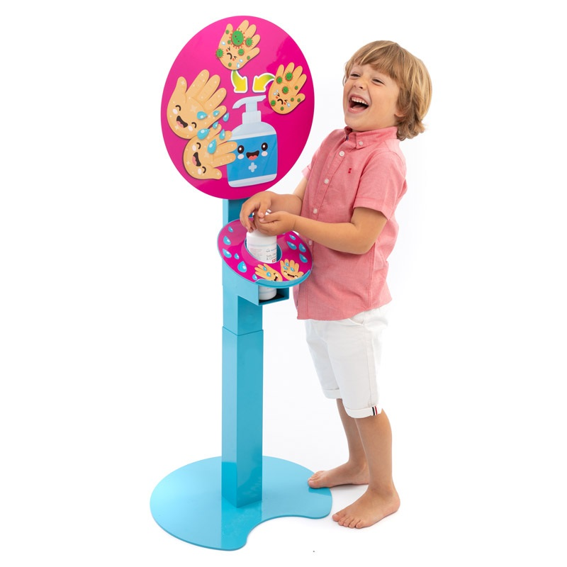 Children's hand sanitiser stand - Waving Hands Design