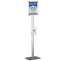 Hand Sanitiser Stand with A4 or A3 Snap Frame