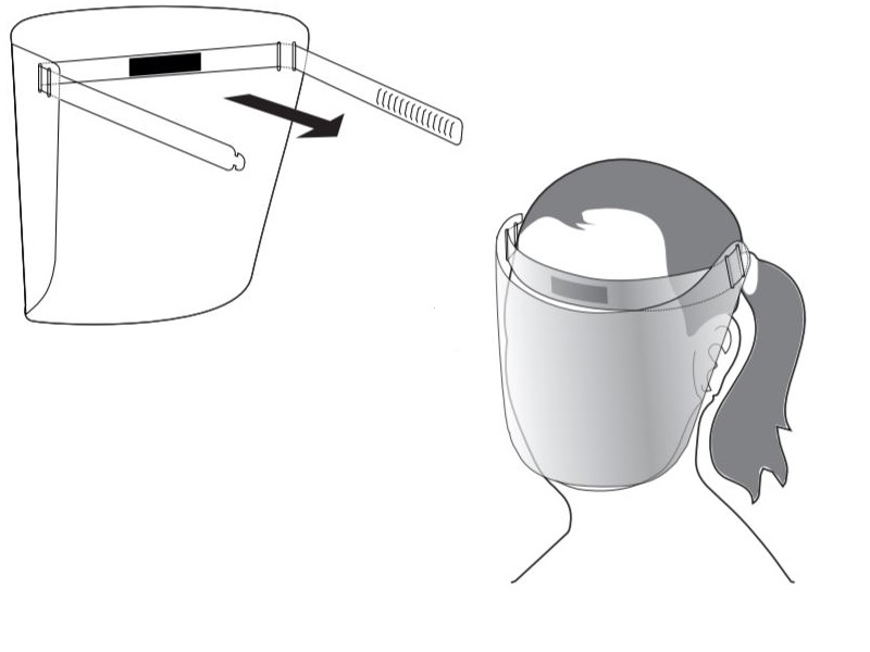Low cost clear protective face masks sold in packs of 10
