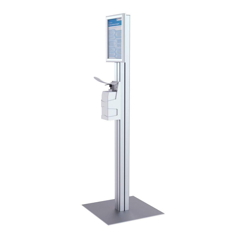 Robust indoor and outdoor hand sanitiser dispenser