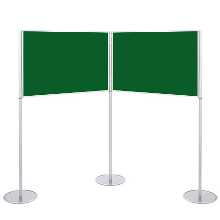 A1 landscape display boards can be angled or used in a straight line.