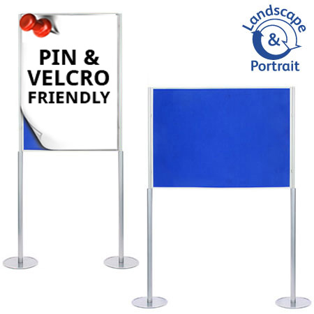 Attach posters to the A0 poster boards with pins and Velcro