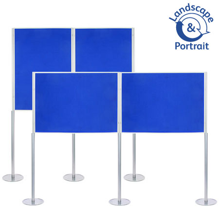 Freestanding double A0 poster boards ideal for schools, colleges and universities