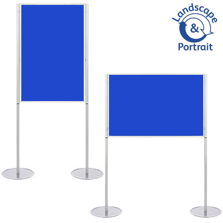 Freestanding A0 display boards - Landscape or portrait use