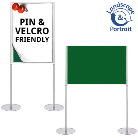 Attach posters to the A1 boards with pins and Velcro