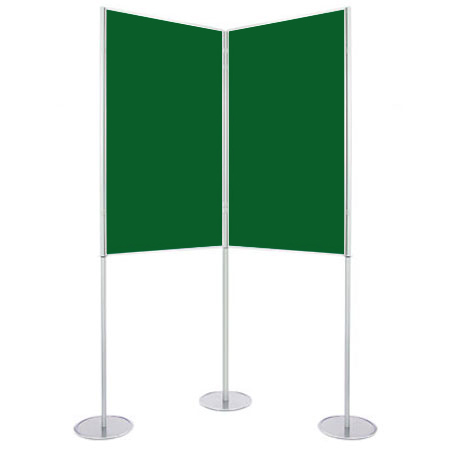 A1 portrait display boards can be angled or used in a straight line.