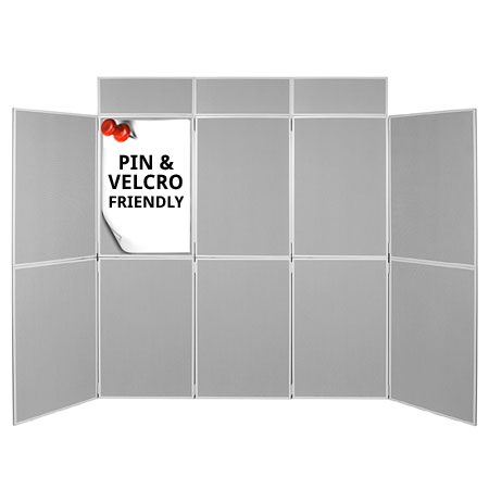 10 panel display kits with 900 x 600mm, 1000 x 700mm and 1000 x 1000mm display boards.