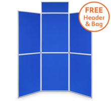 Pro-Fold 6 Panel 1000 x 700mm Folding Display Boards