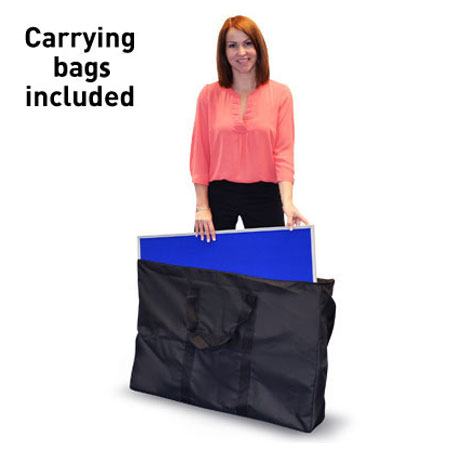 Fabric panel carrying bag for display boards.