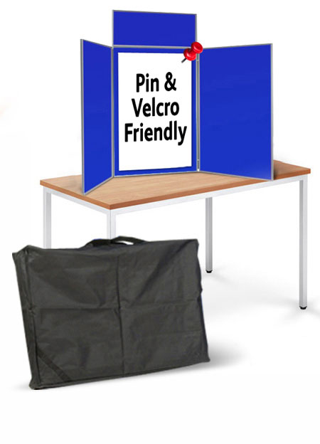 Table top display boards with 900 x 600mm panels.
