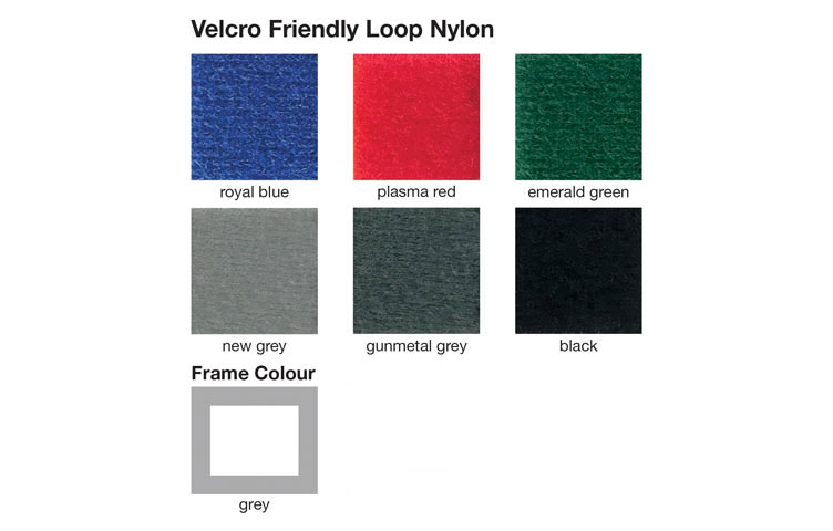 6 different fabric colours to choose from - See drop-down menu