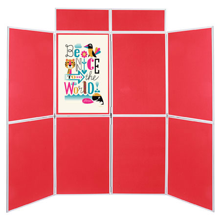 Attach posters with Velcro or pins to our double sided display boards.