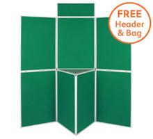 Pro-Fold 7 Panel 1000 x 700mm Folding Display Boards & Tabletop