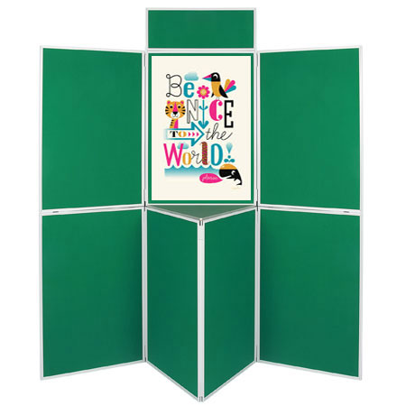 Attach posters with Velcro and pins to our display boards.