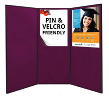 3 Large <strong>Folding Exhibition Boards</strong><br>Each Panel 1810 x 923mm