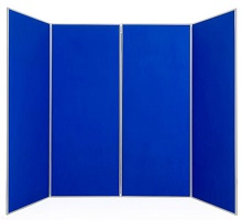 4 Large <strong>Folding Exhibition Boards</strong><br>Each Panel 1810 x 923mm