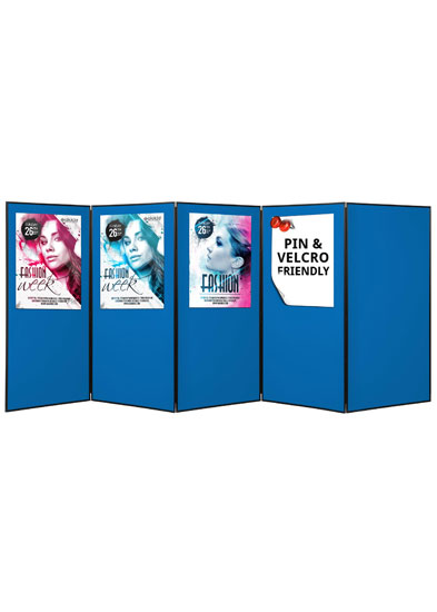 Blueberry full height poster boards