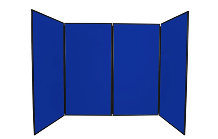 Blue poster boards