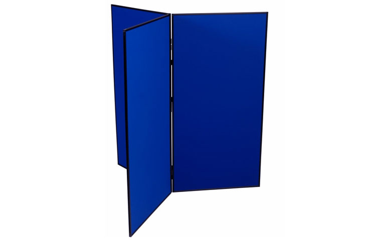 Blue presentation boards for posters