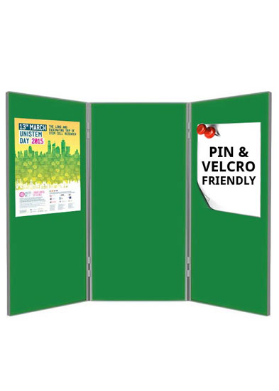 Double sided poster boards - 3 panels