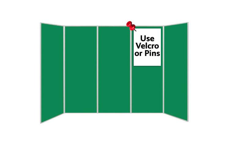 Green display boards - 5 panels