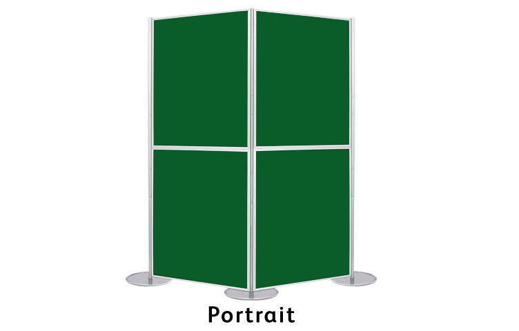 Display panels in a portrait format
