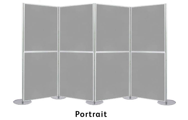 Display boards in portrait 900 x 600mm size.