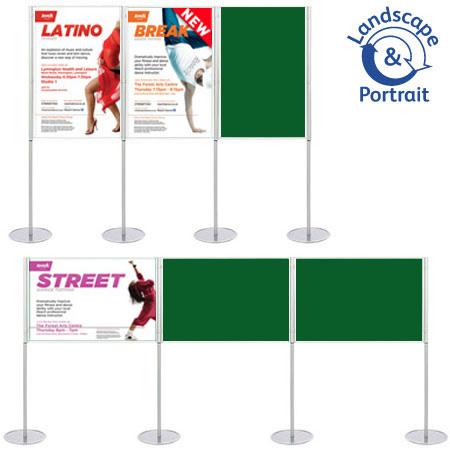 Pin and Velcro friendly freestanding display boards