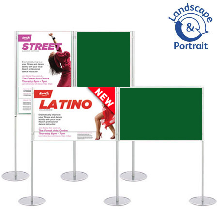 Display boards - attach prints and posters using Velcro or pins.